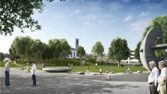Aus der Kirchhalde hinter dem Altersheim Ruggacker soll ein Generationenpark werden, der allen etwas bietet.
