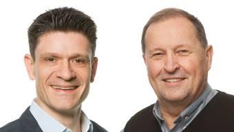 Treten gegeneinander an: Matthias Suter (FDP) und Walter Gurtner (SVP).