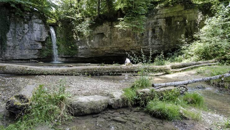 Auch beim Wasserfall Kilchberg werden Wasserproben genommen– meist mit schlechtem Resultat.