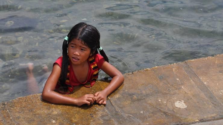 Kritik an Philippinen-Hilfe: Ein Mädchen auf der Insel Negros.
