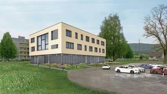 So soll das neue Verwaltungsgebäude in Obergösgen aussehen: Im März 2022 soll es bezogen werden.