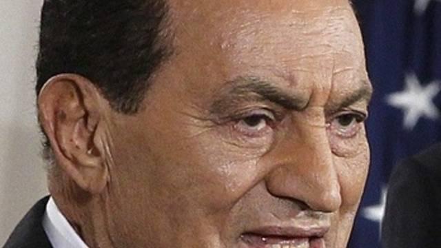 Aegyptens Präsident Hosni Mubarak in den USA