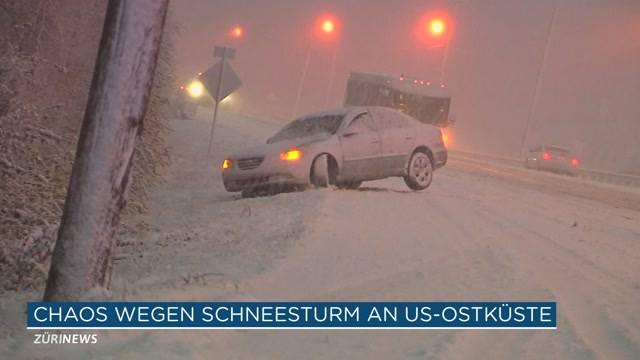 Schneesturm Jonas wütet in USA