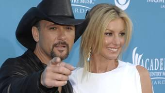 Tim McGraw (links) und Faith Hill haben ihre Luxusvilla verkauft (Archiv)