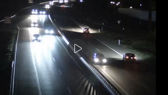 Das Bild zeigt den Geisterfahrer auf der A13.