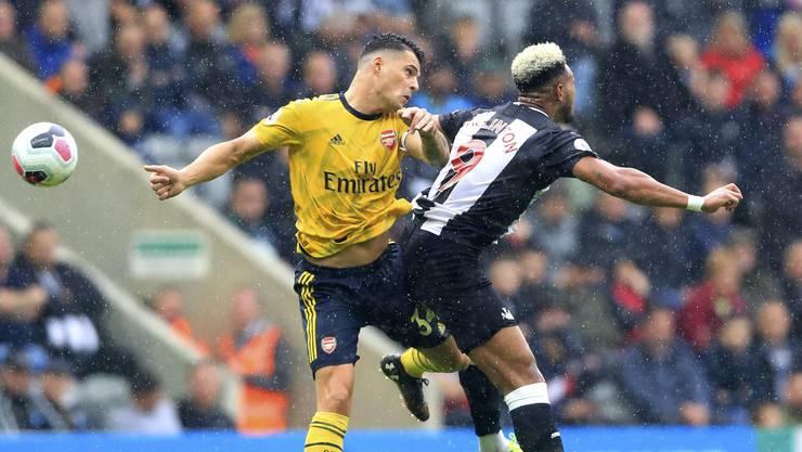 Captain beim Sieg seines Arsenal im Dauerregen von Newcastle: Granit Xhaka. (AP)