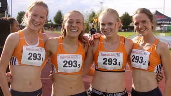Olympisches Team: Ingrid Eckardt, Sibylle Häring, Michelle Handschin, Antje Pfüller (von links).