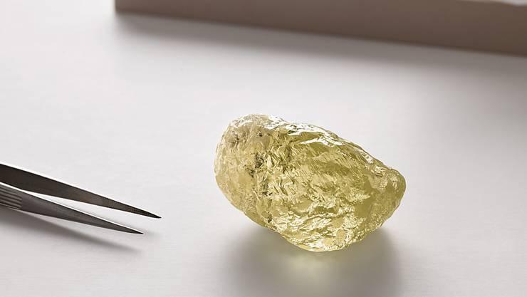 So gross wie ein Hühnerei: der grösste in Nordamerika entdeckte Diamant.