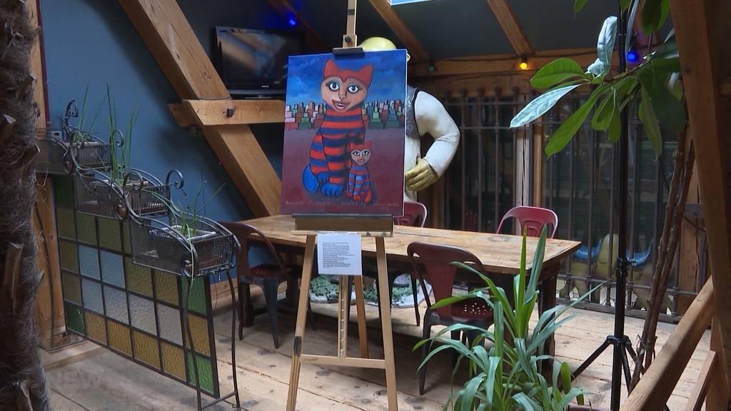 Gemälde statt Konzerte: Im Shutdown wird die Mühle Hunziken als Museum umgenutzt