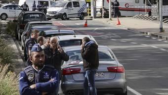 Der Schauplatz der Messerattacke auf die Polizisten im Brüsseler Stadtteil Schaerbeek.