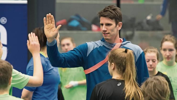 Weltklasse zu Gast: Handballer Andy Schmid war schon öfters im Go Easy. Auch diese Woche. Hier 2016.