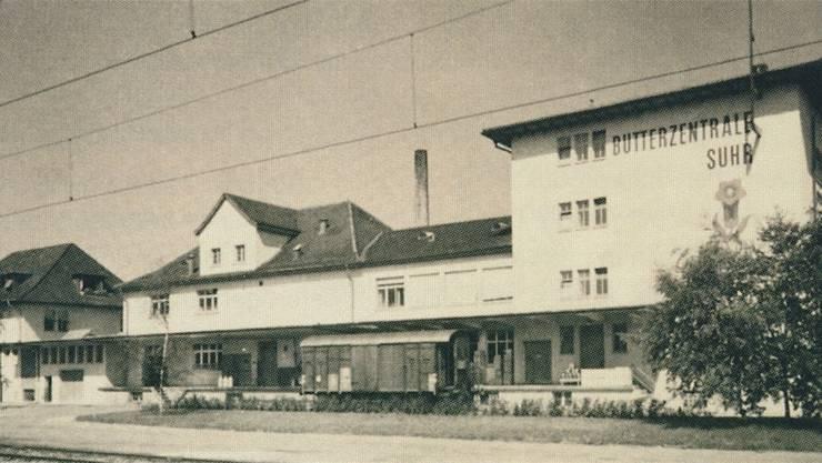 Die Butterzentrale am Bahnhof Suhr anno 1944.