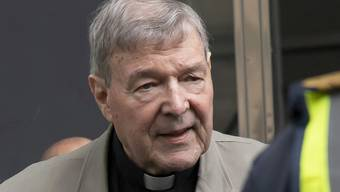 FILE - In this Feb. 26, 2019, file photo, Cardinal George Pell arrives at the County Court in Melbourne, Australia. An Australian court spokesman says Pell will not fight for a reduced jail sentence if he fails in his appeal of his conviction for molesting two choirboys in the 1990s. (AP Photo/Andy Brownbill, File)