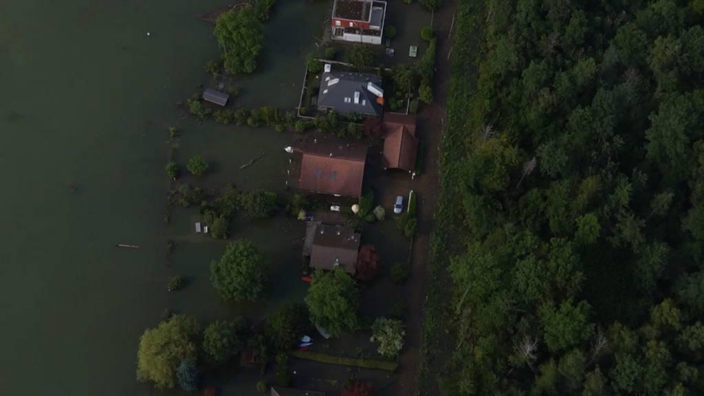 Hochwasser-Rekord am Bielersee