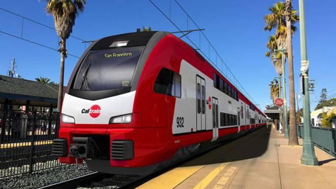 Modell-Studie des neuen Zug-Typs für das Silicon Valley von Stadler Bild: Mario Heller