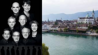 Der Bundesrat ist in Solothurn zu Besuch.