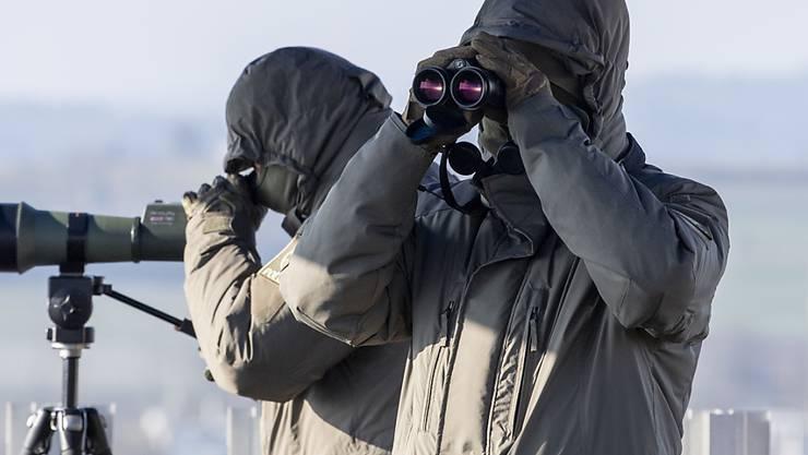 Grosseinsatz für die Kantonspolizei Zürich: Präzisionsschützen überwachen den Flughafen Zürich während des World Economic Forums (WEF).
