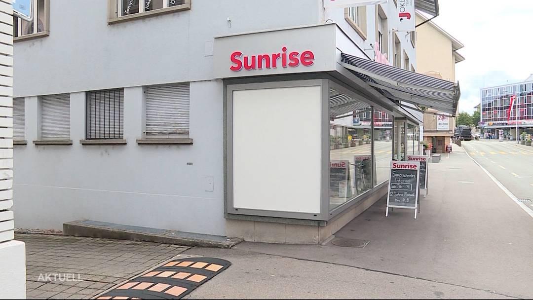 Einbruch Sunrise Shop Wohlen: Diebe mussten ohne Beute flüchten