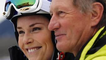 Lindsey Vonn mit Österreichs Ski-Legende Franz Klammer. Wird sie den Rekord einer anderen österreichischen Legende bald brechen?