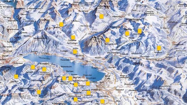 19 Skigebiete gegen die Top 4