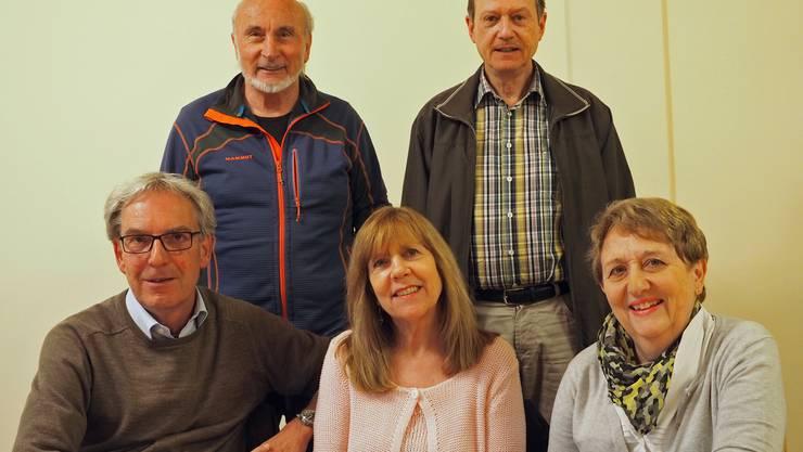hinten: Peter Stelzer und Tino Schütterle vorne: Adrian Sieber, Evi Hinterkircher und Christine Hirt