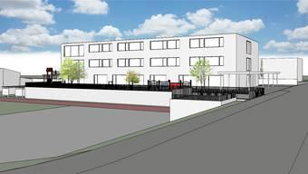 So könnte das neue Primarschulgebäude in Bad Zurzach aussehen (Visualisierung). Bilder: ZVG/Archiv