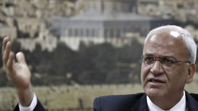 Unter Druck der USA: Die Palästinenser, hier Chefunterhändler Saeb Erekat (Archiv)