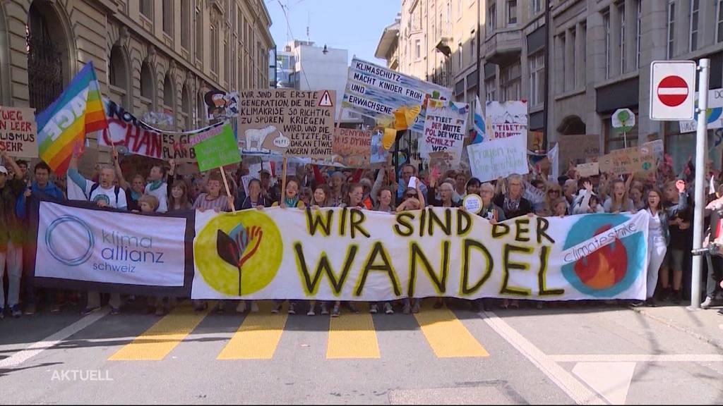 Klimademo Bern: Stadt platzt aus allen Nähten