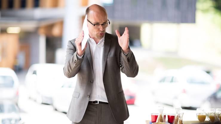 Nationalrat Stefan Müller-Altermatt sprach  über die Abstimmung zum Sozialversicherungsgesetz. (Archivbild)