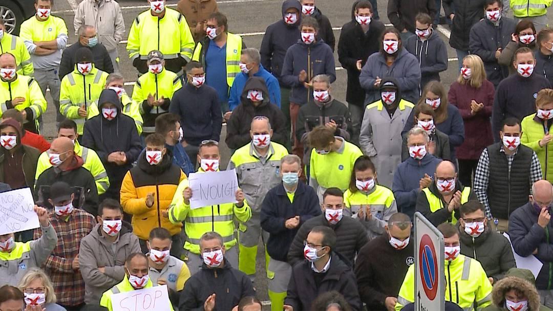 Oberentfelden: General-Electric-Mitarbeitenden protestieren gegen Stellenabbau