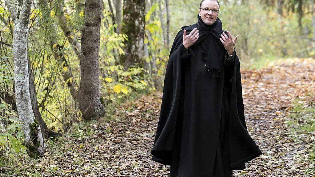Abt Urban Federer vom Kloster Einsiedeln hat sich beim Skifahren verletzt (Archivaufnahme).