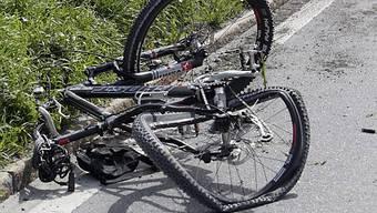 Das Velo nach dem Unfall