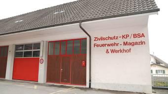 Das Feuerwehrmagazin Unterhalden soll für 400 000 Franken saniert werden.  Fotos: sh