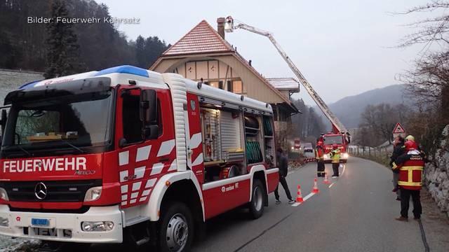 Chemiebrand in Zimmerwald