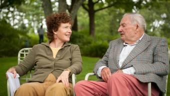 Eileen Rockefeller mit ihrem Vater David (Homepage)