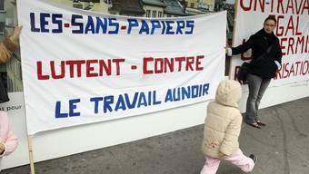 Sans Papiers kämpfen für ihre Rechte (Archiv)