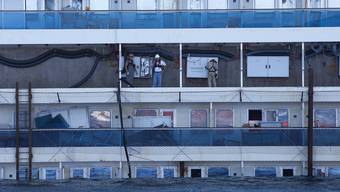 Costa Concordia 1 Woche nach der Bergung