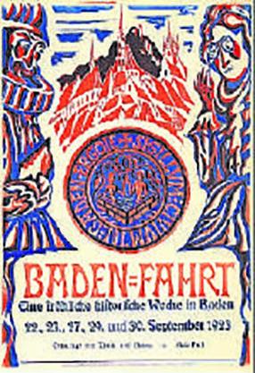 1923: Das erste Volksfest mit der Bezeichnung Badenfahrt erinnerte an den Friedenskongress von 1714. An diesem wurde der Friede von Baden ausgehandelt, der zum Ende des Spanischen Erbfolgekrieges beitrug. Entsprechend hiess das Fest «Der Europäische Friedenskongress».