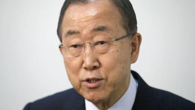Ban Ki Moon verlangt sofortiges Ende der Gefechte (Archiv)