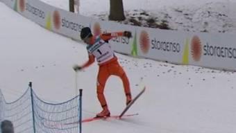 Dieser Langläufer aus Venezuela gibt an der WM in Lahti alles