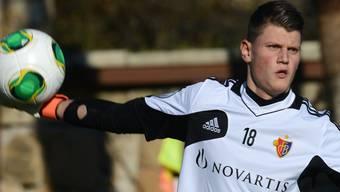 Basels U21-Torhüter Stefan Lapcevic schnuppert in Estepona erstmals Profiluft. Quelle: Andy Mueller/freshfocus