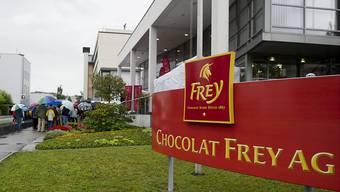 Das Fabrikationsgebäude von Chocolat Frey in Buchs AG.