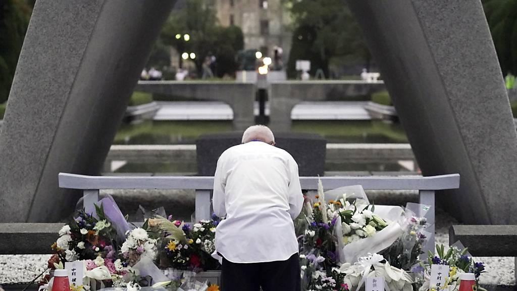 Japan gedenkt des Atombombenabwurfs auf Hiroshima vor 75 Jahren