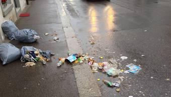 Dieser Abfall bringt Mehrarbeit für die Mitarbeiter der Werkbetriebe.