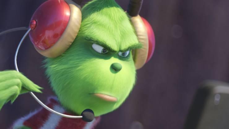 """Der Animationsfilm """"The Grinch"""" lockte am Wochenende vom 6. bis 9. Dezember 2018 am meisten Besucher in die Schweizer Kinos. (Archiv)"""