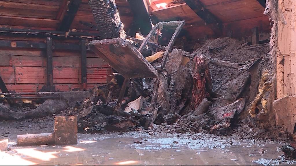 Dachstockbrand in Aarburg: 12 Wohnungen wurden evakuiert