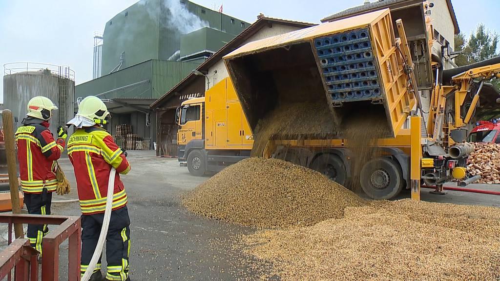 Brand in Getreidesilo - Aufwändige Löscharbeiten für über 100 Einsatzkräfte