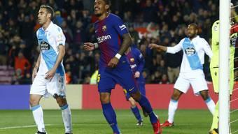 Der Brasilianer Paulinho erzielte beim klaren Sieg des FC Barcelona gegen Deportivo La Coruña zwei Tore