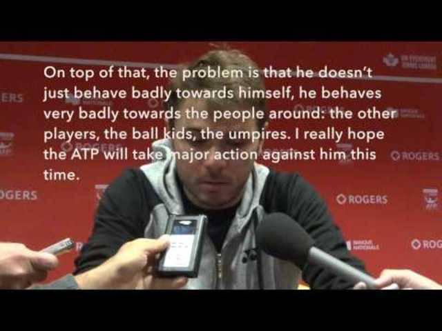 Stan Wawrinka beantwortet Fragen der Journalisten zur Beleidigung von Nick Kyrgios
