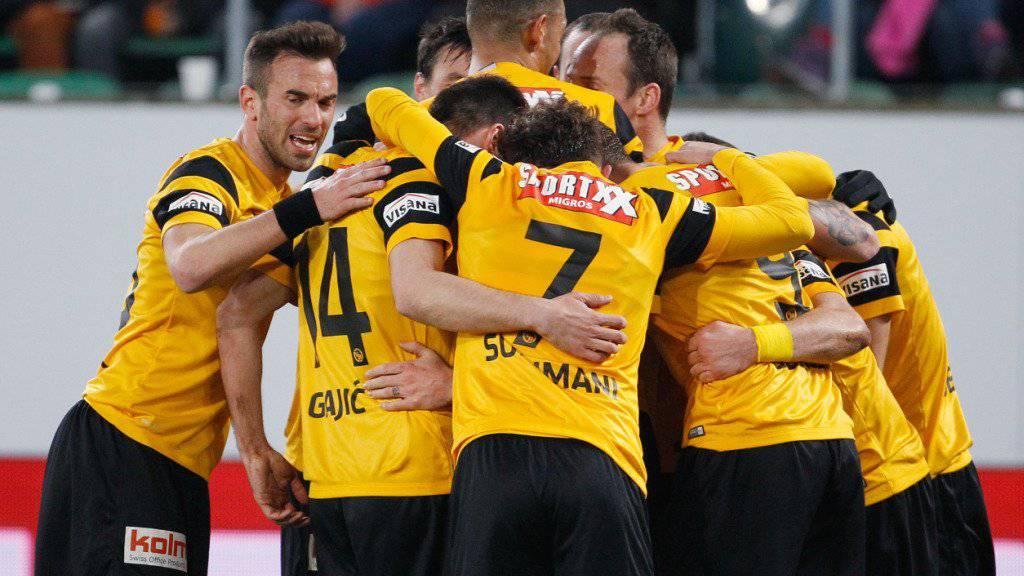 Mit solchen Bildern soll es für die Young Boys im Heimspiel gegen Lugano weitergehen